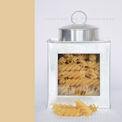 .spirals. (Kiwi_GaL) Tags: food white silver spirals pasta canister inmykitchen sweettreatpresetsactions lightboostaction