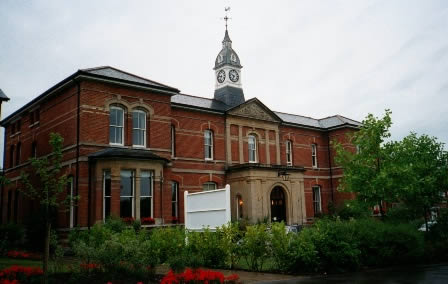The Main Entrance and Administration Block of St Augustine's Psychiatric Hospital (County Asylum), Chartham, near Canterbury, Kent, England, UK