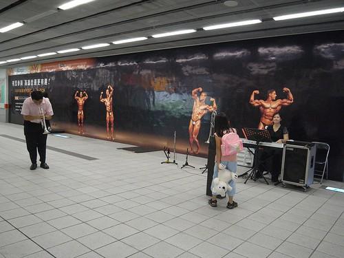 你拍攝的 3捷運音樂會。