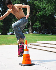Samir Skateboarding (Chicago_Tim) Tags: shirtless ny newyork guy jump skateboarding skateboard albany trick stunt washingtonpark