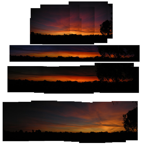 4 merged sunsets