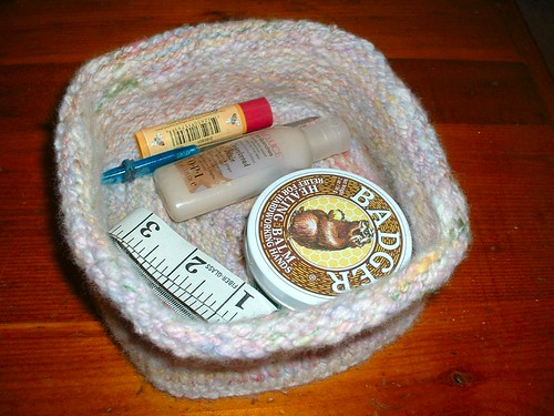pastel knit basket fill