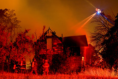 Another Day On The Job (SNWEB.ORG Photography, LLC.) Tags: longexposure nightphotography red house abandoned night fire action watertower detroit scene september vacant ladder emergency firedept 2009 firedepartment firefighters dwelling detroitmichigan dfd detroitfiredepartment detroitfire cityofdetroit detroitmi september09 dwellingfire september2009