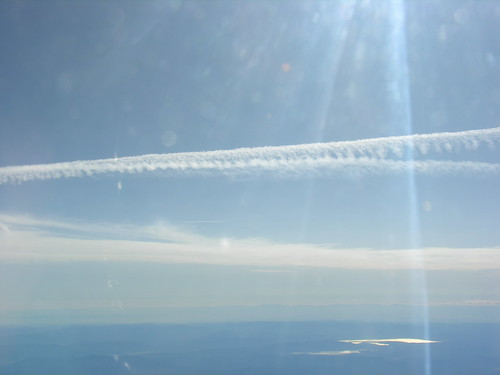 Jet trail at 32,000 feet