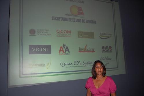Indhira Morales en el ceremonial