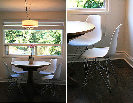 Eames Eiffel Chairs in our Kitchen