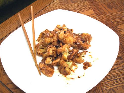Stir Fried Chicken With Cauliflower