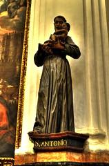 Namesakes (Tony Shertila) Tags: sculpture saint statue temple spain worship europe cathedral muslim christian idol mezquita córdoba stanthony iaslam stantony mosquechurch august2009