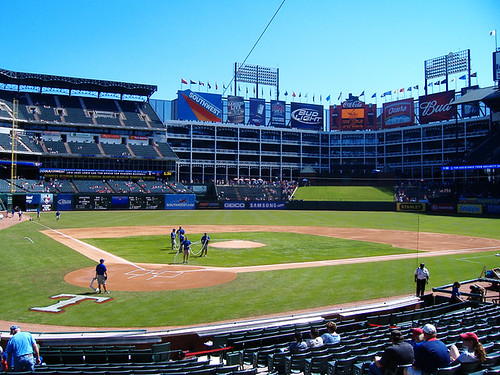 Rangers Ballpark in Arlington by ensign_beedrill.