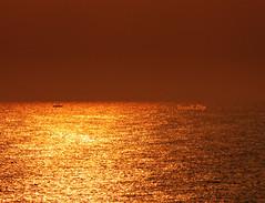 ... non  tutto oro quello che luccica (FranK.Dip) Tags: desktop sunset wallpaper panorama costa gold barca tramonto cielo sole nebbia salento puglia cartolina oro brindisi fotogrfico orizzonte sfondo sfondi foschia dip2 frankdip panoramafotogrfico 10062009