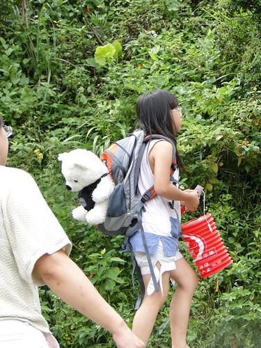 你拍攝的 3揹著北極熊去度假的娃。