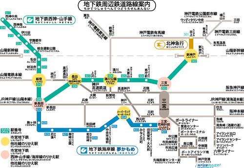 神戶市營電車路線圖