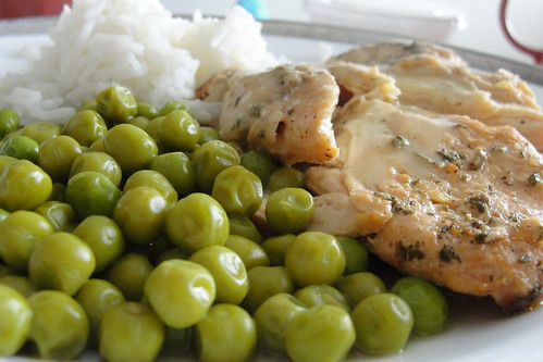peas n chicken