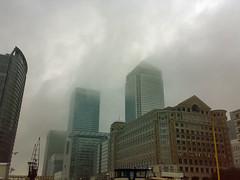 Canary Wharf - rain storm