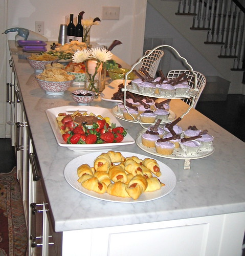 a shot of the spread