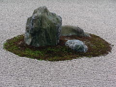 Zen Garden (Nicote) Tags: landscape zen zengarden stone rocks small scenery stones sea imperfection ignorance rock mean perfection buddhism interesting harmony island ryanji japanese gardens  karesansui dry were influenced mainly by can be found temples meditation living work art which plants trees ever changing with seasons garden ryanji temple a famous is northwest kyoto japan