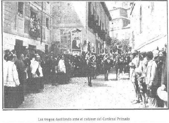Entierro del Cardenal Reig. Foto Rodríguez  para Mundo Gráfico
