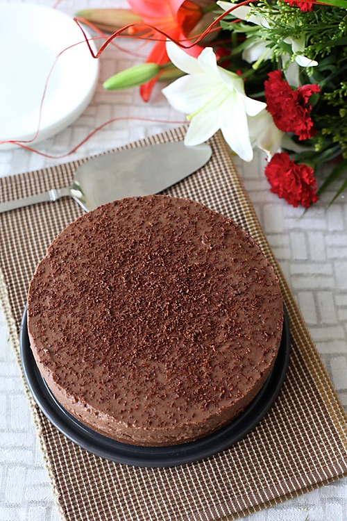 Chocolate Mascarpone Cheesecake (Eggless & No Bake)