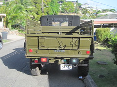 Rear view, Dodge 1954 M37 3/4-ton 4WD U.S. military truck (Joel Abroad) Tags: truck army hawaii 1954 dodge honolulu m37 stlouisheights