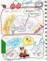 March 8 & 9, 2014 (trishsworld) Tags: color art march calendar drawing doodle schedule planner 2014 datebook