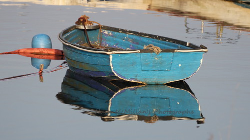Rowing boat at Balloch, Scotland.