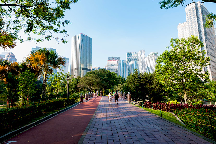 KLCC Park is one of dozens of serene green spaces in the city