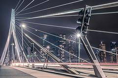 Rotterdam by Night (Esther5h (On and Off)) Tags: 2017 rotterdam februari erasmusbrug bridge nightphotography