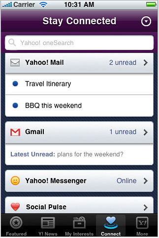 Yahoo iPhone