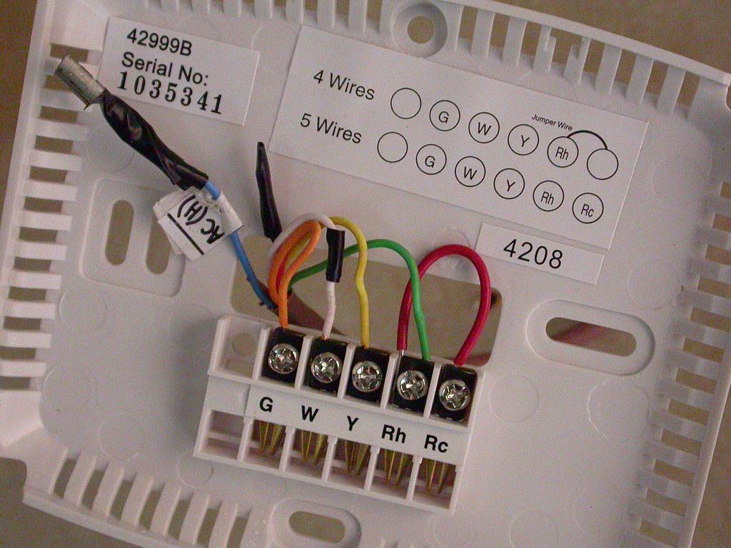 hunter thermostat wiring 4 wires wiring schematic diagram
