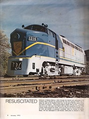 Trains Magazine, January 1975 (mod as hell) Tags: 1975 locomotive baldwin rf16 delawarehudson sharknose trainsmagazine rf161216 monongahelarailway