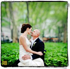 Springtime in a Park with Marika and Liam (Ryan Brenizer) Tags: nyc wedding love groom bride nikon bokeh manhattan explore bryantpark elopement 85mmf14 d700 bokehpanorama brenizermethod marikaandliam
