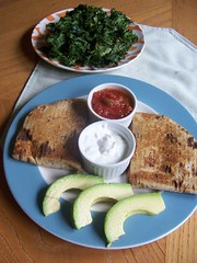 kale_chips_bean_quesadillas