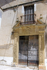 Ronda Ancient Door (cwgoodroe) Tags: summer costa white hot sol beach del bells spain ancient europe churches sunny bull bullfighter adobe ronda moors walls washed clothesline protective newbridge roda bullring stonebridge oldbridge spainish whitehilltown rondah spanishdoors