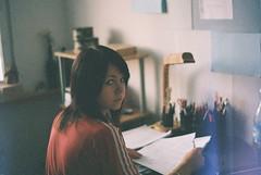 (MilkyAir) Tags: film girl fuji iso400 room praktica drawning mtl3 analof milkyair