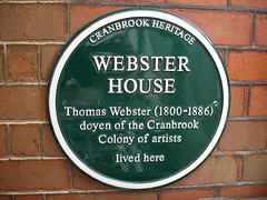 Photo of Thomas Webster green plaque
