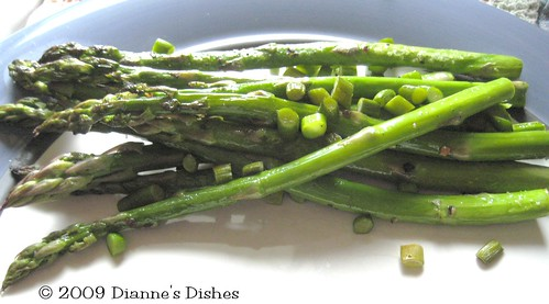 Roasted Asparagus with Garlic Scapes: Roasted