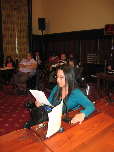 Alejandra in the Council chambers