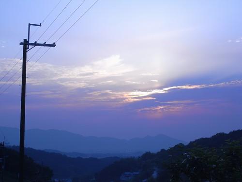 棚田の夕陽@明日香村-09