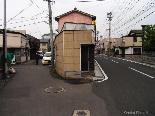 Y in the road in Sendai