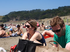 The bags kind of ruined the shot. (kshibano) Tags: sanfrancisco beach sunny bakerbeach