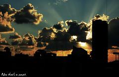 Now that's a sunset. (ADIDA FALLEN ANGEL) Tags: houses light sunset sun clouds buildings golden israel telaviv amazing interesting nikon heaven ray shadows sundown god magic rays unreal direct d40 oldschooldigital flickrunitedaward