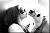 (massi_pugliese) Tags: portrait bw film girl darkroom cat kiss chat kodak trix lips bn gatto 2009 bianconero beso bacio ragazza 400iso pellicola labbra analogico cameraoscura audelà bwart ilfordwarmtone jpeggy cartabaritata gelatinslverprint