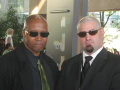 Otakon 2009: Morpheus is not Rude! (MorpheusBlade) Tags: costumes anime sunglasses cosplay bald manga rude turks comicon baldmen morpheus matrixreloaded finalfantasy7 meninsuits otakon2009