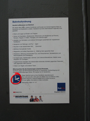 Bahnhof Bern Bahnhofordnung