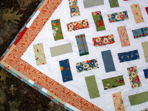 vintage inspired quilt detail, borders, binding