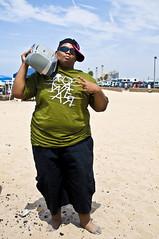 #006 (DN Photography) Tags: portrait hot green beach hat sunglasses nikon pants gang sigma stereo africanamerican brand rapper d300 2870mm hunington