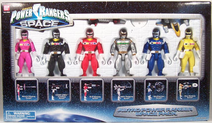 Power Rangers in Space Astro Power Ranger Space Pack