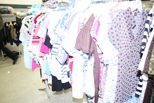 I probably blinded this poor rack of ugly blouses. Which is probably for the best.