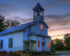 Trinity UMC at sunset (Stephen Little) Tags: church methodist hdr catlett trinitycatlettunitedmethodistchurch jstephenlittlejr