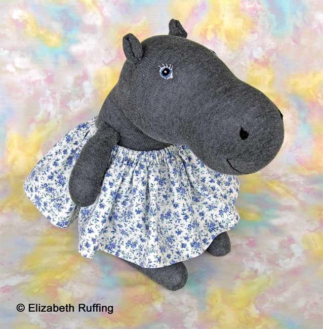Hug Me! Hippo, Original Art Toys by Elizabeth Ruffing